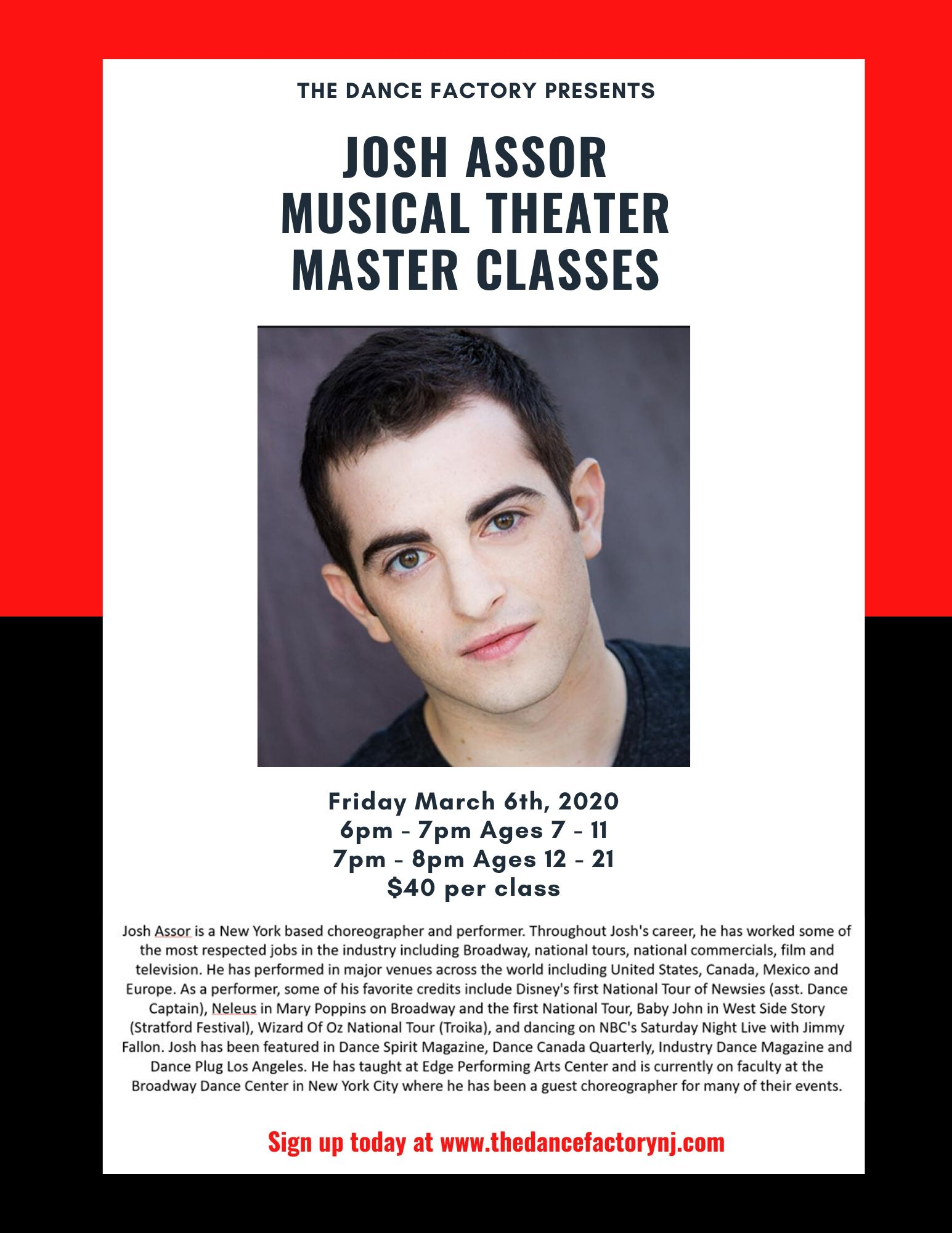 Josh Assor Musical Theater Classes
